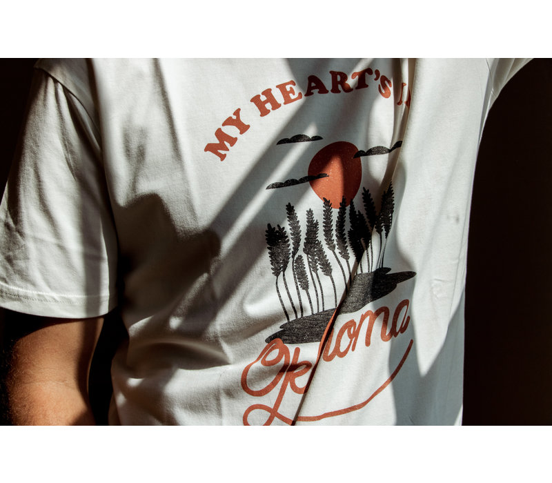 My Heart's In Oklahoma Tee Natural
