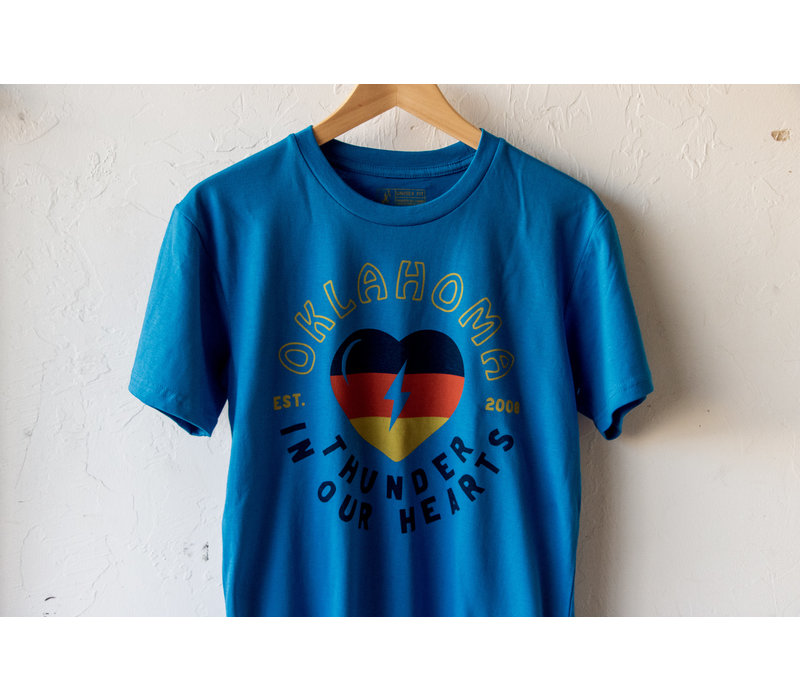 Thunder in Our Hearts Tee Arctic Blue
