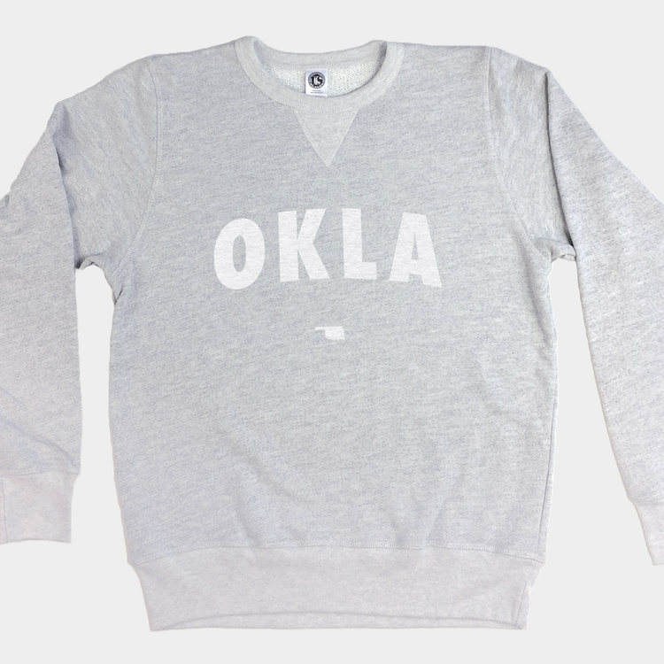 Shop Good Vintage White OKLA Pullover Sweatshirt