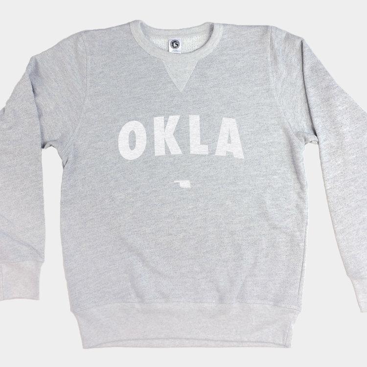 Shop Good Vintage White OKLA Pullover Sweatshirt