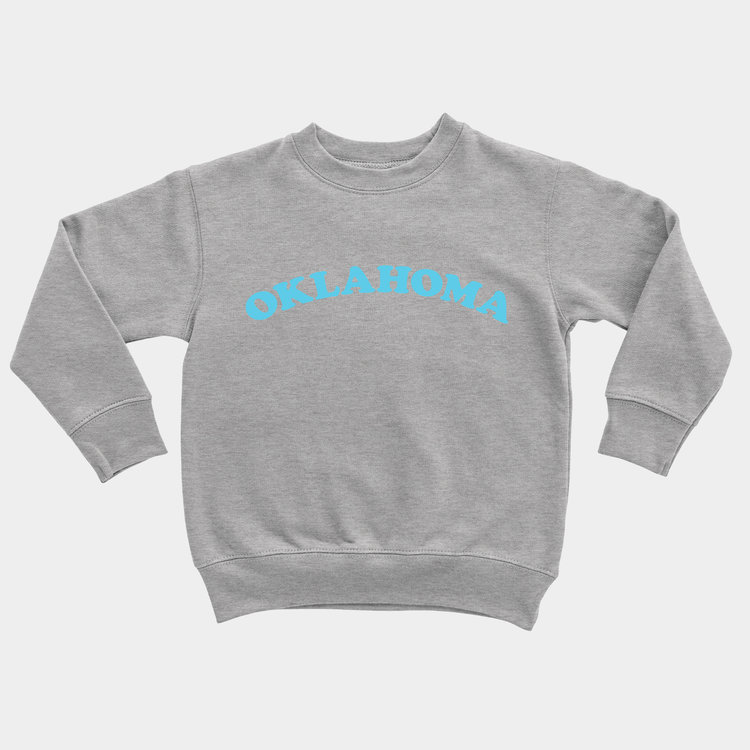 Shop Good Oklahoma Throwback Kids Pullover Heather Fruity Pebbles