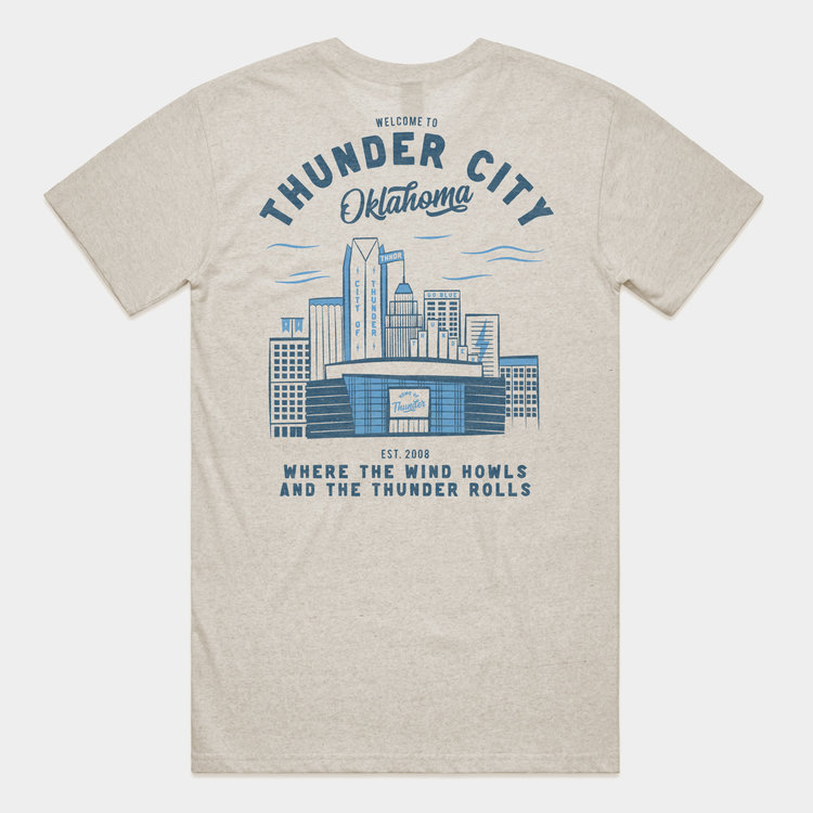 Shop Good Thunder City OK Tee Oatmeal Heather