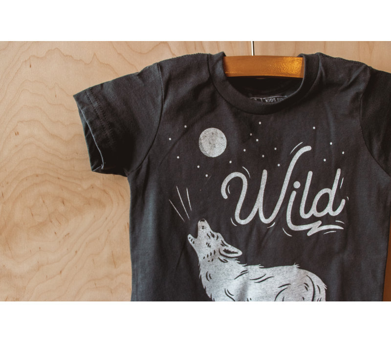 Wild Wolf Kids Tee Dark Grey Heather