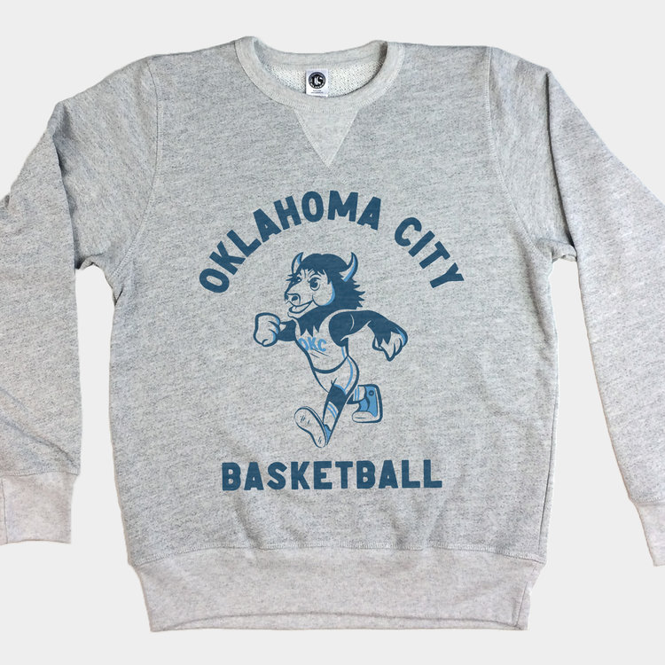 Shop Good Throwback Rumble Pullover Sweatshirt Heather Grey
