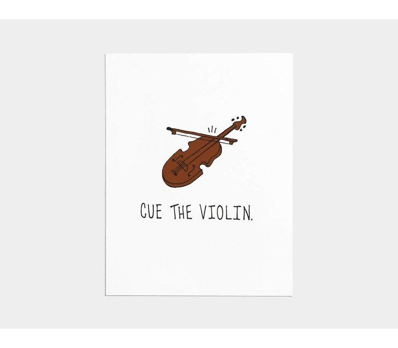 Cue the Violin Card
