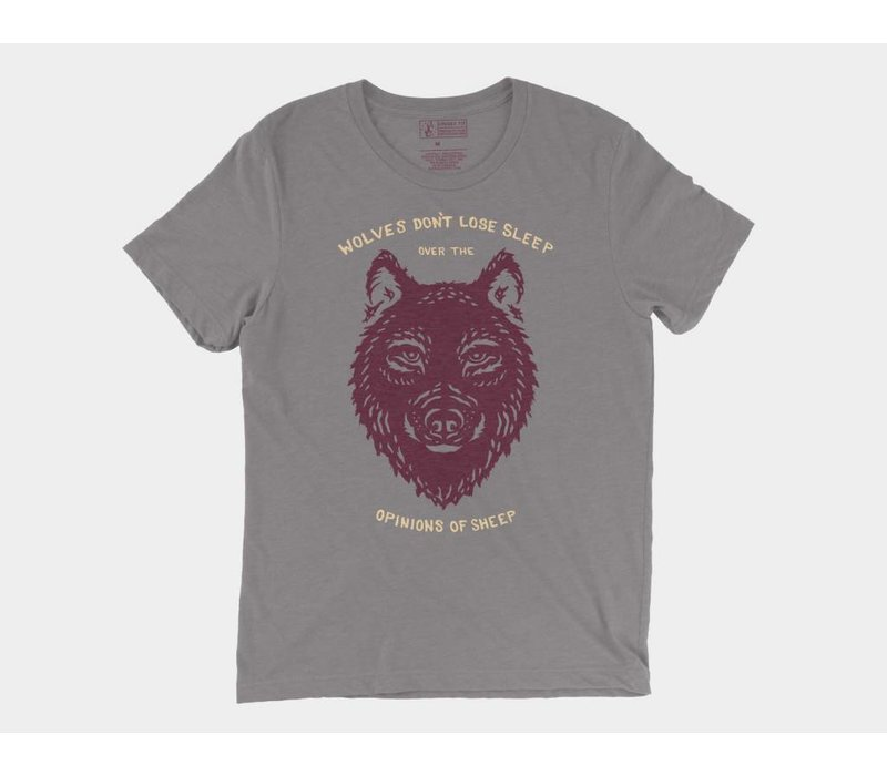Wolf Tee Storm Triblend