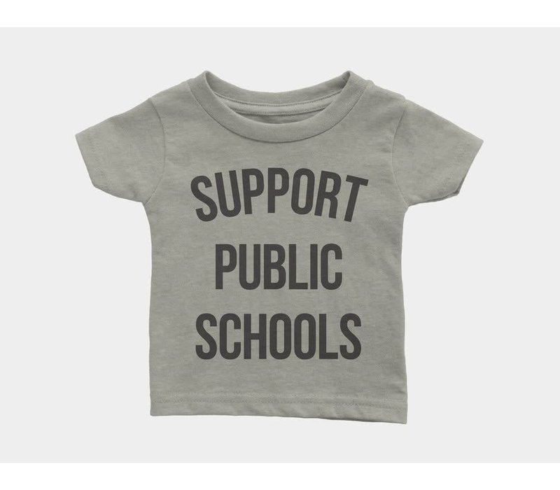 Support Public Schools Kids Tee Heather Stone
