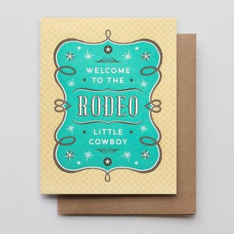 Hammerpress Welcome to The Rodeo Cowboy Card