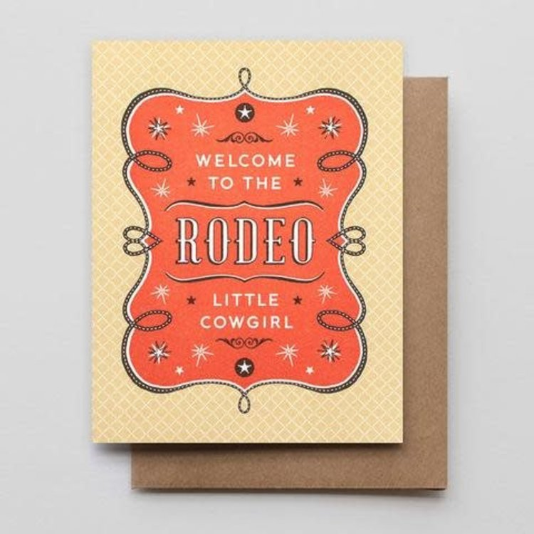 Hammerpress Welcome to The Rodeo Cowgirl Card