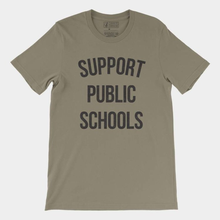 Shop Good Support Public Schools Tee Army