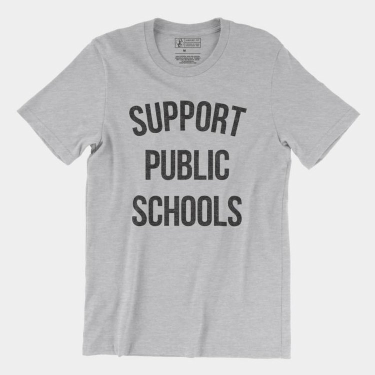 Shop Good Support Public Schools Tee Athletic Heather