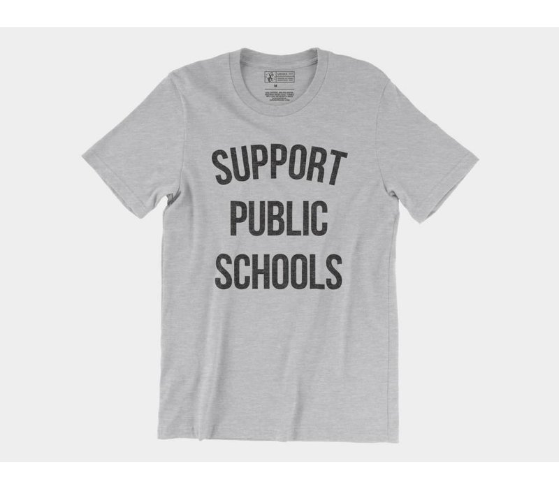 Support Public Schools Tee Athletic Heather
