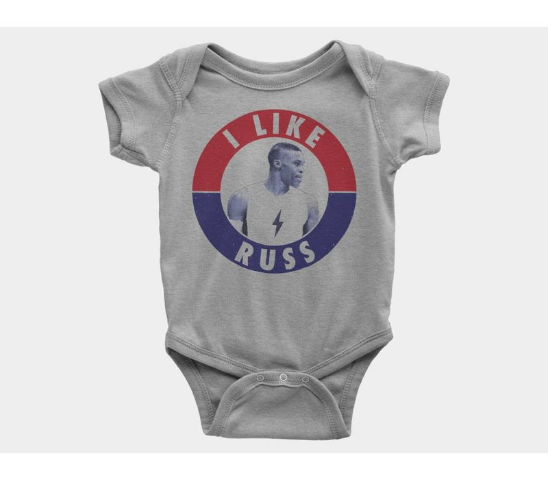 I Like Russ Kids Onesie Athletic Heather