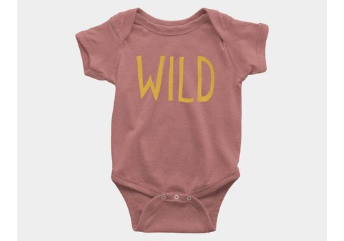 Shop Good Wild Kids Onesie Mauve Triblend