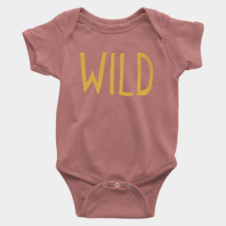 Shop Good Wild Kids Onesie Mauve Triblend