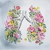 Tiny Art Shop Floral Anatomy Lungs Art Print