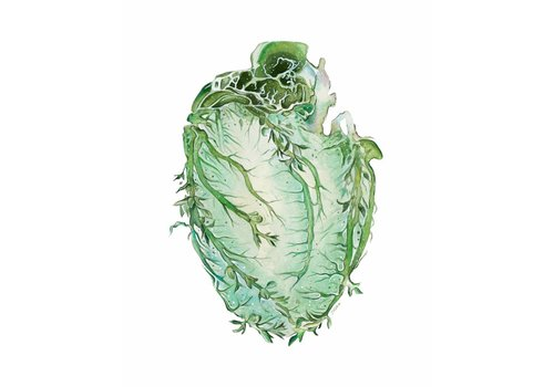 Tiny Art Shop Floral Anatomy Vine Heart Art Print