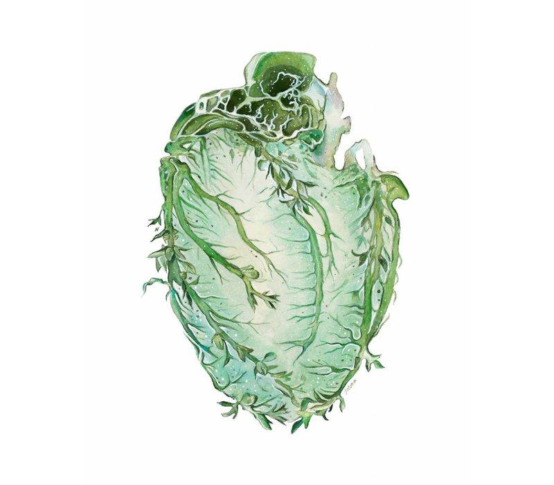 Floral Anatomy Vine Heart Art Print