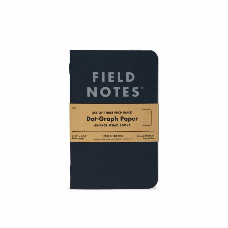 Field Notes Field Notes - Pitch Black 3-Pack