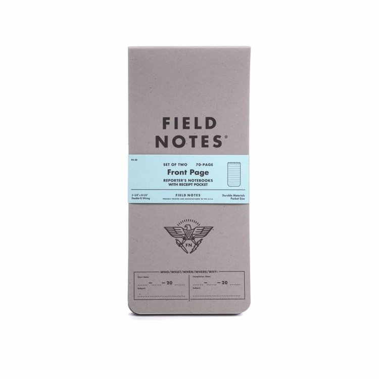 Field Notes Field Notes - Front Page Reporter's Note Book 2-pack