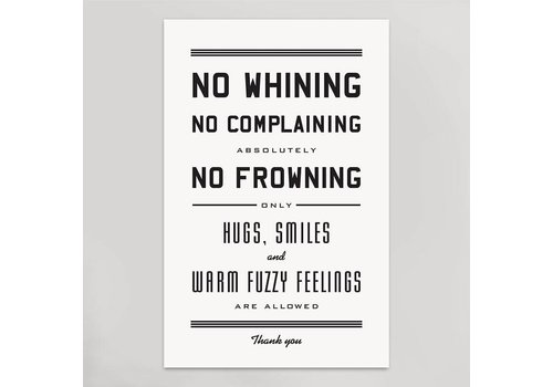 Hammerpress No Whining Art Print