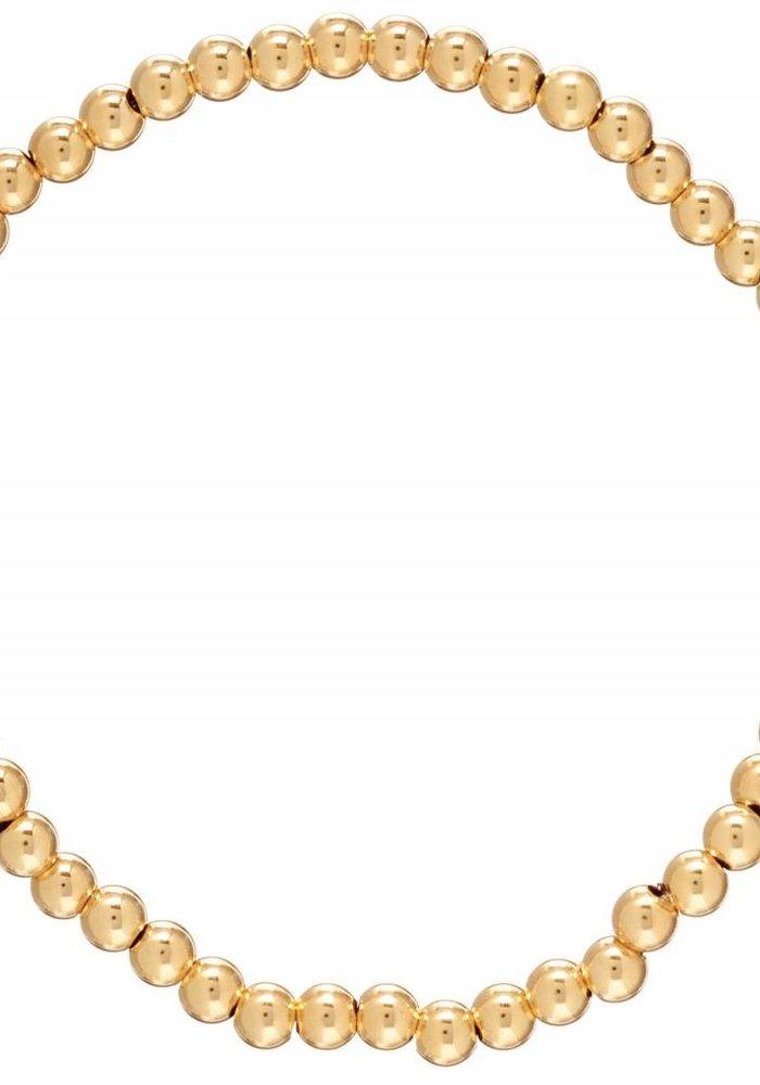 Classic Gold 4mm Bead Bracelet