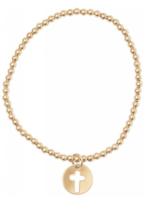Enewton Classic Gold 3mm Bead Bracelet Blessed Charm