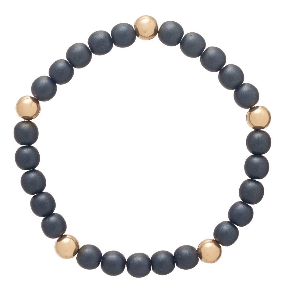 Enewton Promise Pattern 6mm Bead Bracelet Hematite