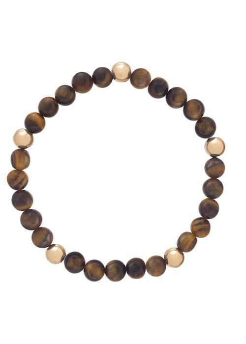 Enewton Promise Pattern 6mm Bead Bracelet Tiger Eye