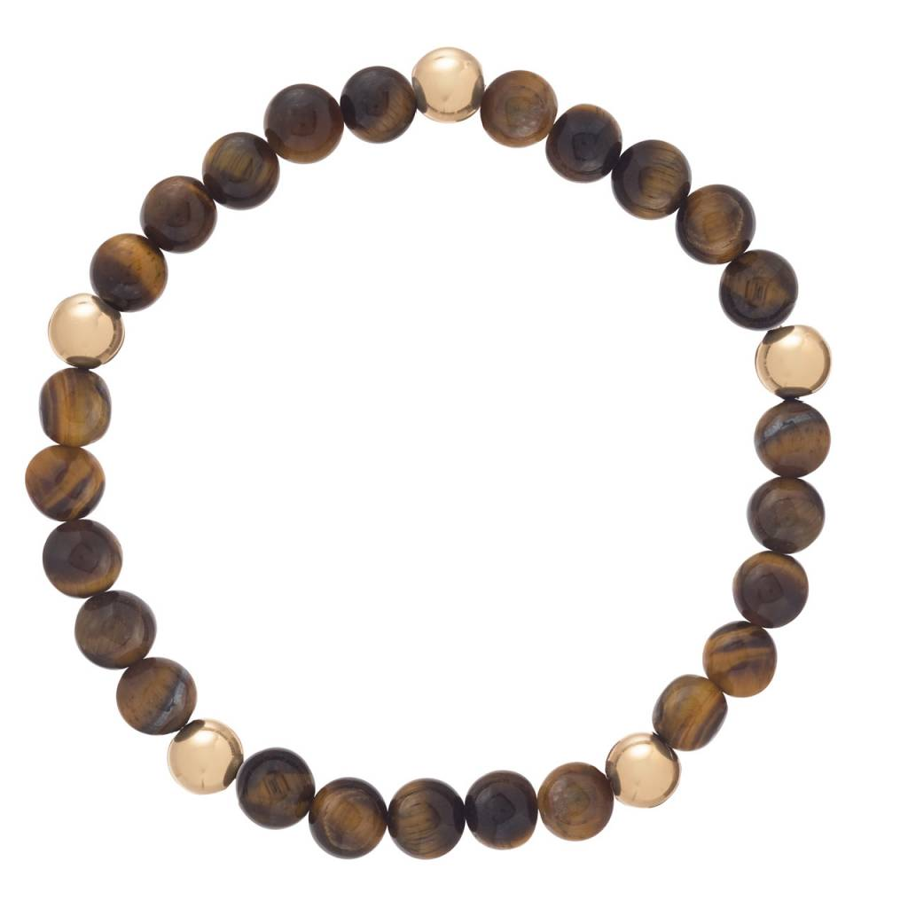 Enewton Promise Pattern 6mm Bead Bracelet Tiger Eye