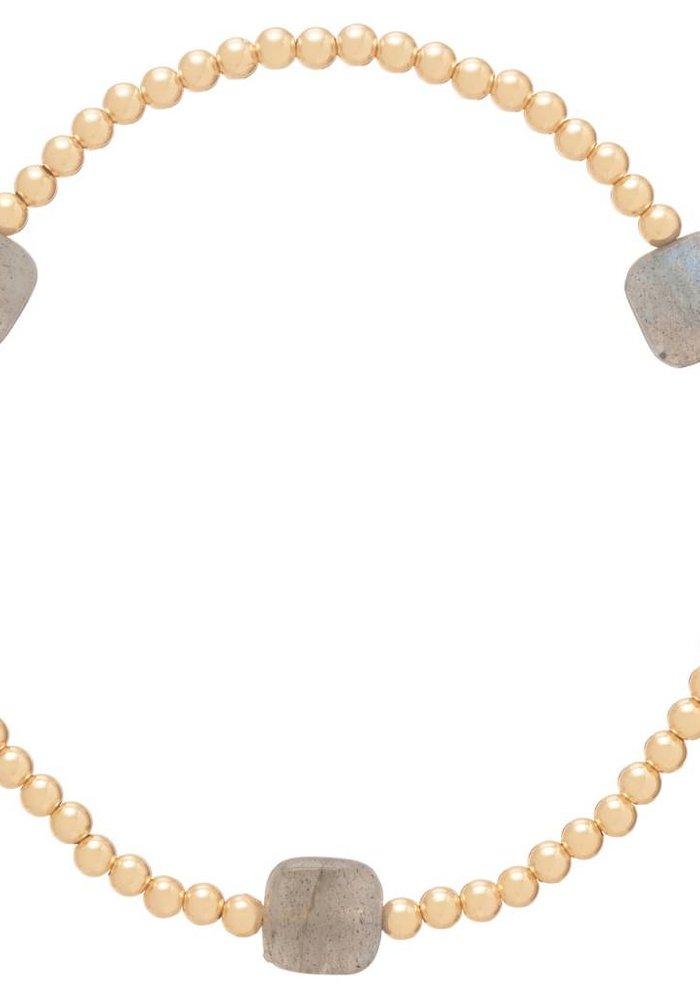 Seasons Pattern 3mm Bead Bracelet Labradorite