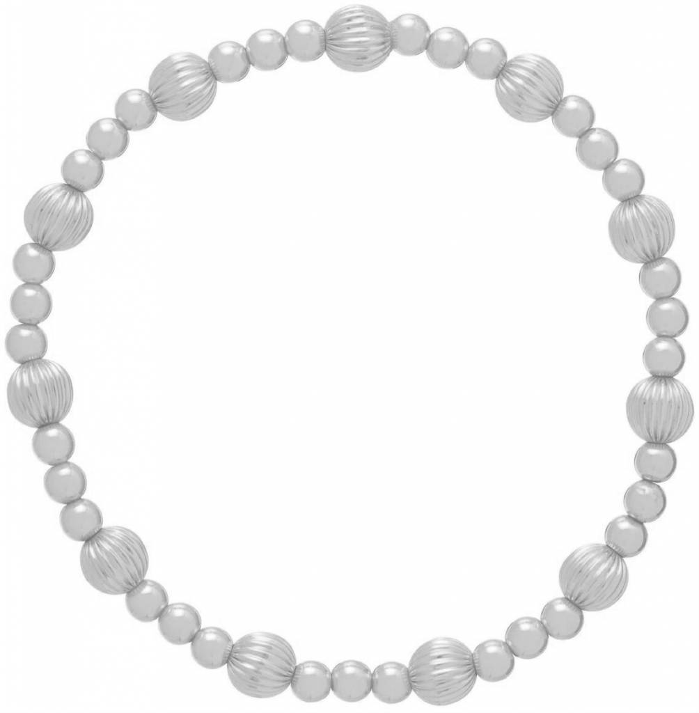 Enewton Dignity Sincerity Pattern 6mm Bead Bracelet - Sterling
