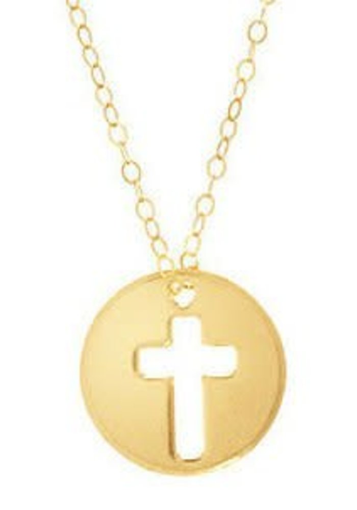 "16"" Necklace Gold Blessed Charm"