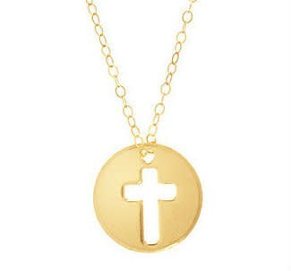 """Enewton 16"""" Necklace Gold Blessed Charm"""