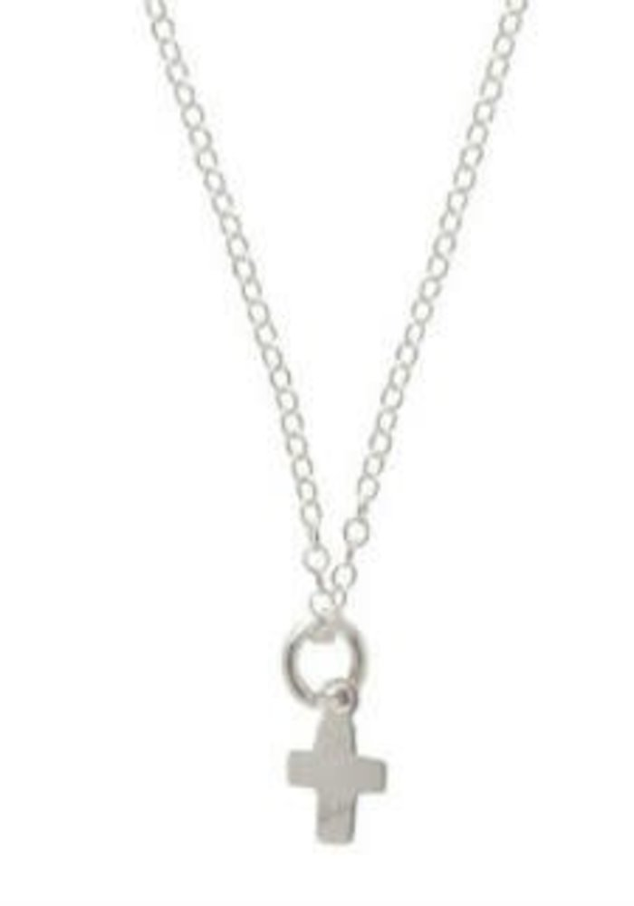 """16"""" Necklace Sterling Believe Sterling Charm"""