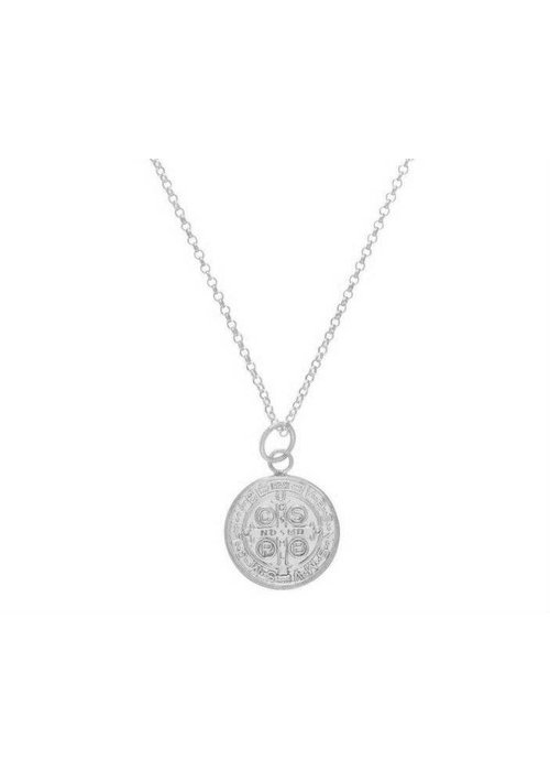 "Enewton 16"" Necklace Sterling Blessing Large Sterling Charm"