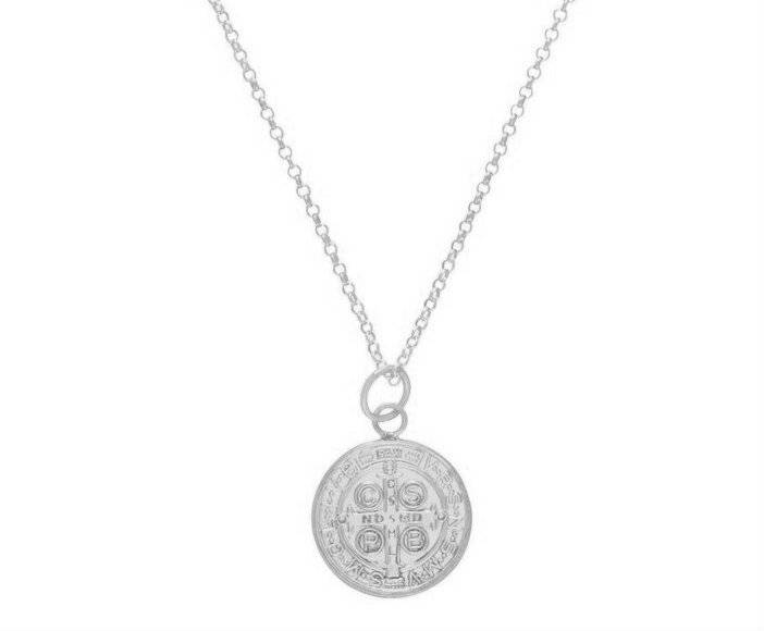 """Enewton 16"""" Necklace Sterling Blessing Large Sterling Charm"""
