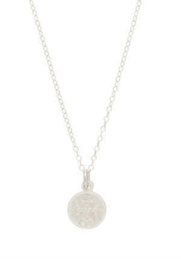 "16"" Necklace Sterling Blessing Small Sterling Charm"
