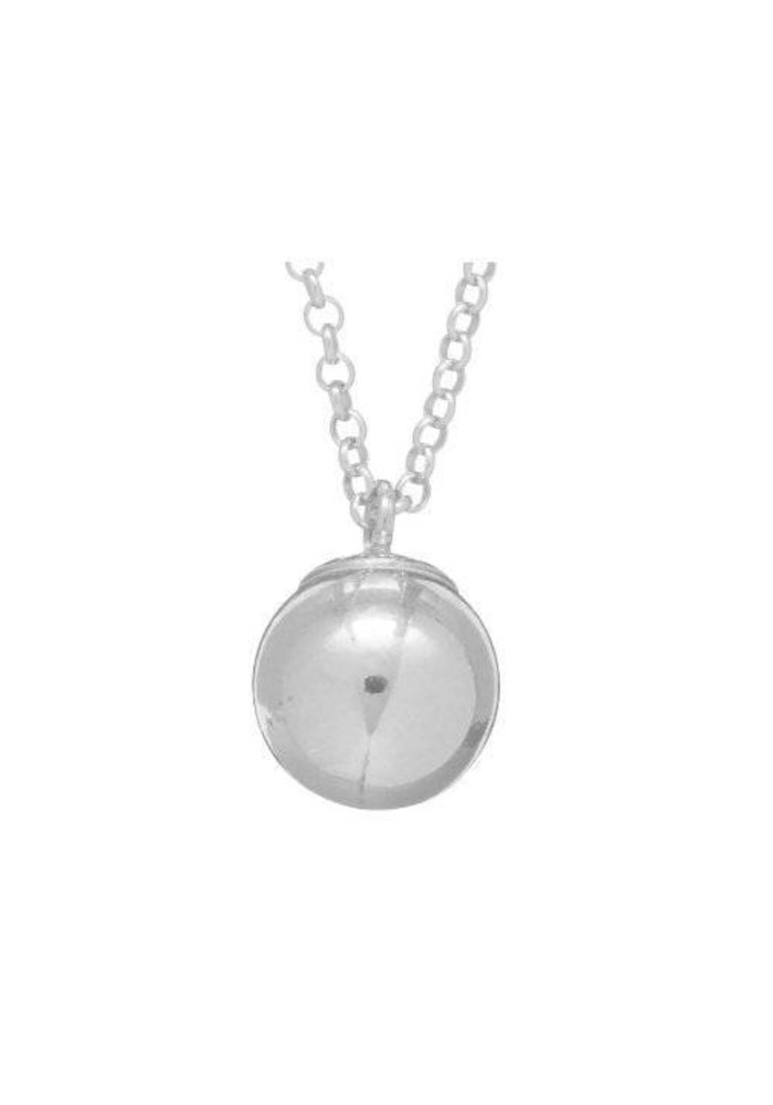 """16"""" Necklace Sterling Clarity Sterling Charm"""