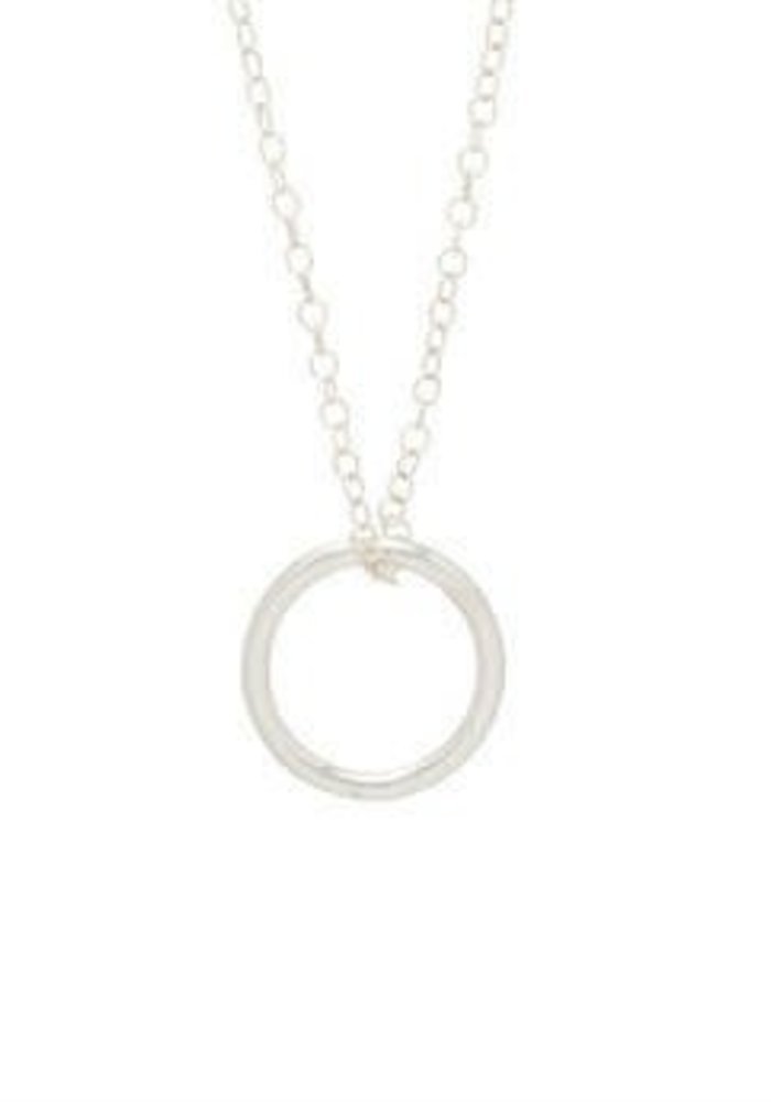 """16"""" Necklace Sterling Halo Sterling Charm"""
