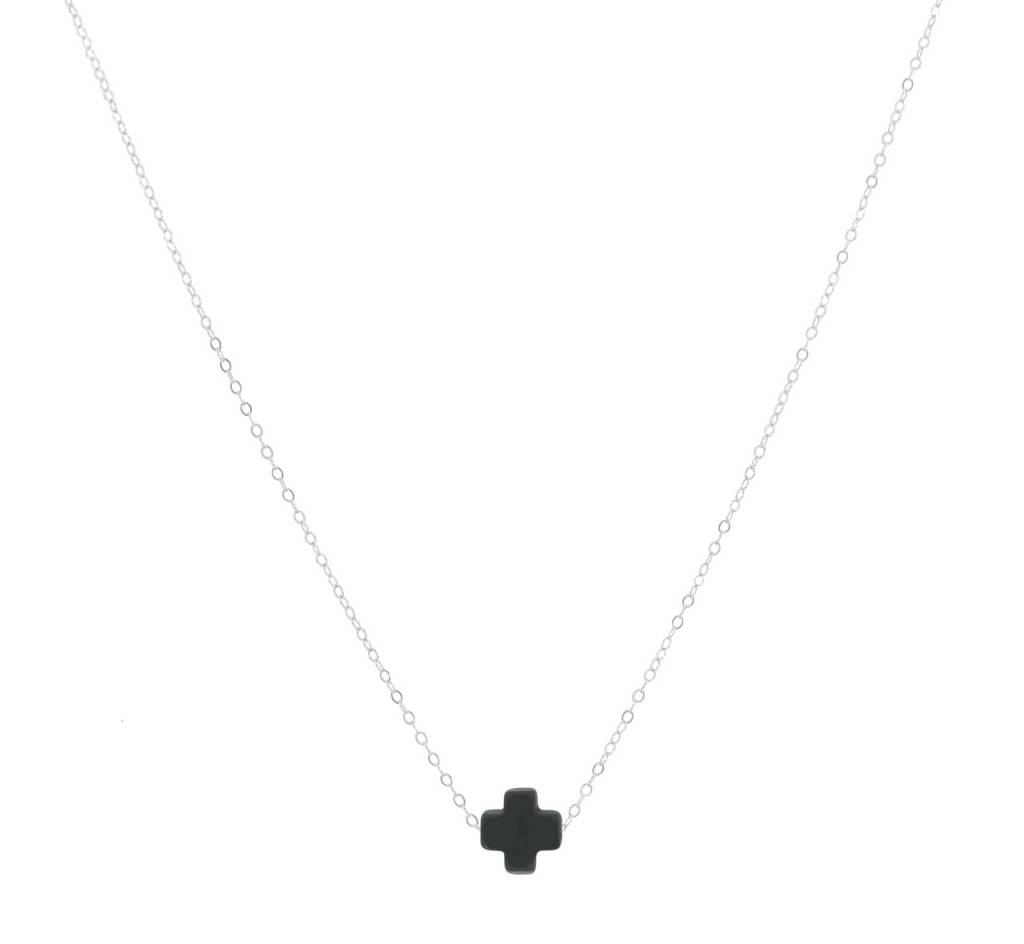 "Enewton 16"" Necklace Signature Cross Charcoal"