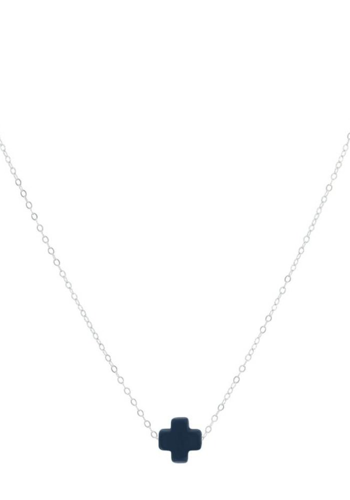 "16"" Necklace Signature Cross Navy"