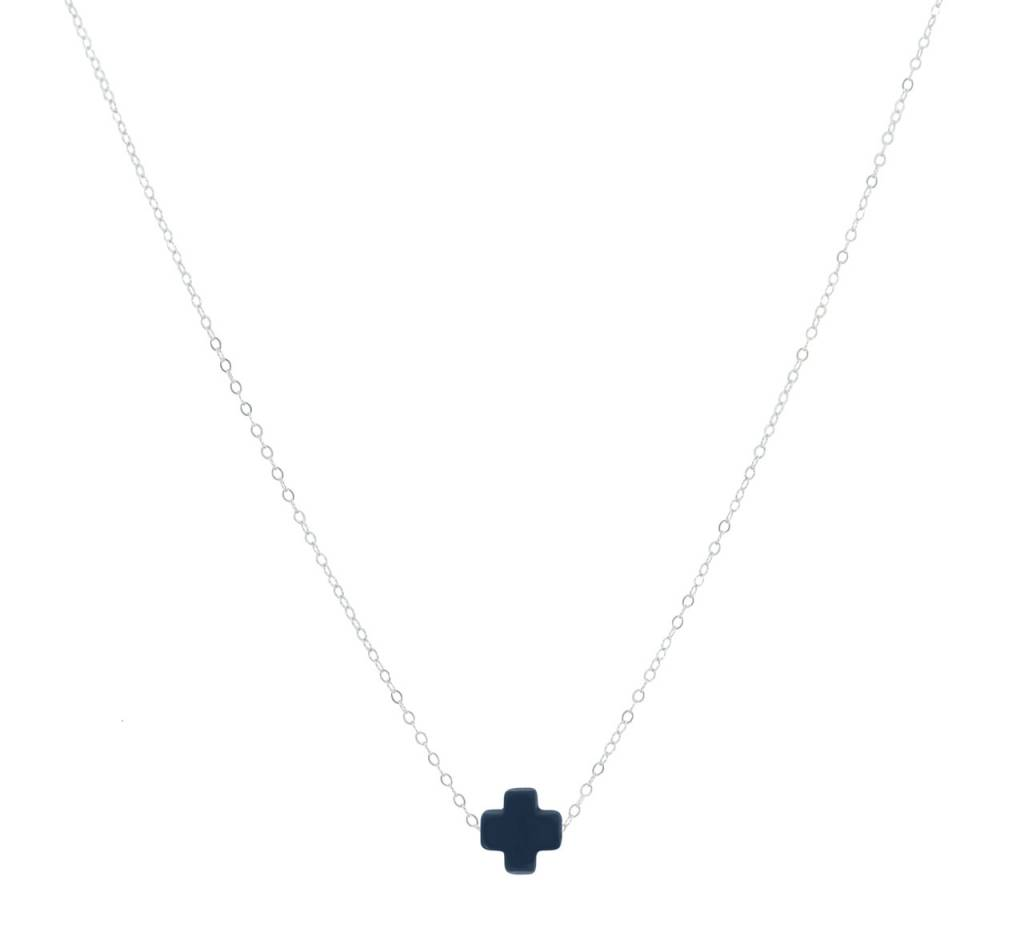 "Enewton 16"" Necklace Signature Cross Navy"