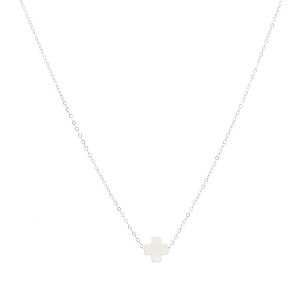 "Enewton 16"" Necklace Signature Cross Off White"