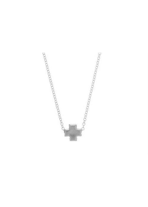 "Enewton 16"" Necklace Sterling Signature Cross Matte Sterling Mini"