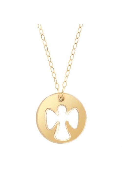 "Enewton 16"" Necklace Gold Guardian Angel Charm"