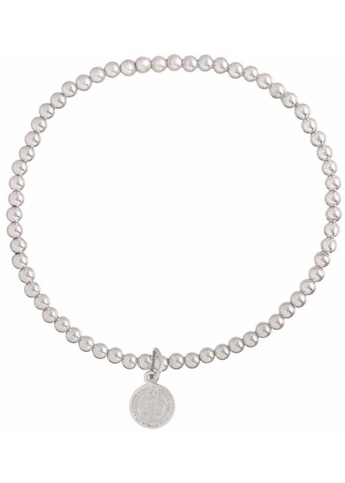 Enewton Classic Sterling 3mm Bead Bracelet Blessing Small Sterling Charm
