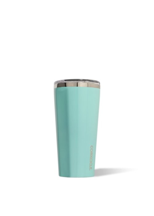 Corkcicle Gloss Turquoise 16oz Tumbler