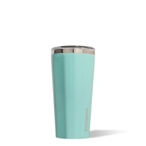 Corkcicle Gloss Turquoise 16oz Tumbler