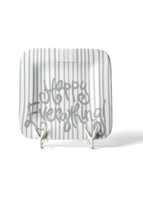 """Happy Everything Stone Skinny Stripe Happy Everything 9.25"""" Mini Platter"""